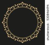decorative line art frame for... | Shutterstock . vector #530846494