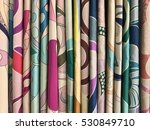 colourful textiles background   Shutterstock . vector #530849710