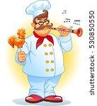 funny chef. lollipop. | Shutterstock .eps vector #530850550