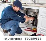 plumber. | Shutterstock . vector #530859598