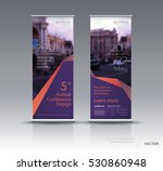 purple roll up banner design... | Shutterstock .eps vector #530860948