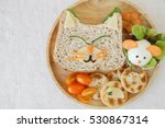 cat and mouse lunch  fun food... | Shutterstock . vector #530867314