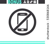 no phone vector icon. | Shutterstock .eps vector #530868166
