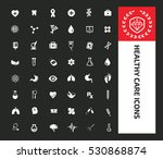 healthy care icons design clean ... | Shutterstock .eps vector #530868874