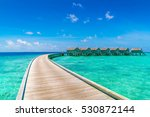 beautiful water villas in... | Shutterstock . vector #530872144