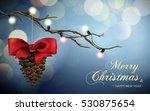 merry xmas happy new year... | Shutterstock .eps vector #530875654