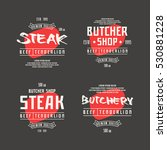butchery and steak label. print ... | Shutterstock .eps vector #530881228