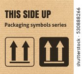 this side up packaging symbol... | Shutterstock .eps vector #530888266