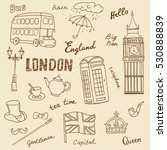 set of england symbols... | Shutterstock .eps vector #530888839