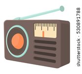 retro radio receiver icon....