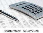financial accounting pen and... | Shutterstock . vector #530892028