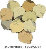 chickpeas illustration | Shutterstock .eps vector #530892784
