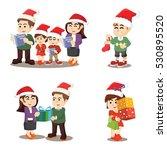 family cristmas again cartoon... | Shutterstock . vector #530895520