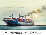international container cargo... | Shutterstock . vector #530897488