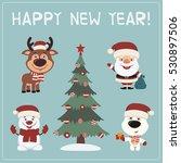 happy new year  set of... | Shutterstock .eps vector #530897506