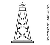 oil resources icon. outline... | Shutterstock .eps vector #530898706