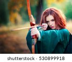 beautiful red haired girl in... | Shutterstock . vector #530899918