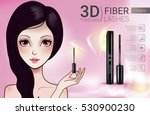 3d mascara ads. vector... | Shutterstock .eps vector #530900230