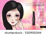 concealer stick ads. vector... | Shutterstock .eps vector #530900344