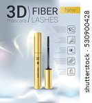 3d mascara ads. vector... | Shutterstock .eps vector #530900428