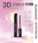 3d mascara ads. vector... | Shutterstock .eps vector #530900458