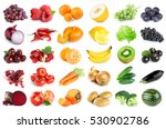 collection of fruits and... | Shutterstock . vector #530902786