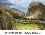 Inca Fortress With Terraces An...