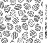 doodle eggs. coloring page.... | Shutterstock .eps vector #530911063