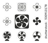fan vector icons set.... | Shutterstock .eps vector #530913178