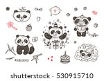 cute baby panda vector set.... | Shutterstock .eps vector #530915710