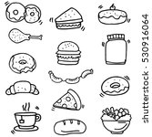doodle of food and drink object ... | Shutterstock .eps vector #530916064
