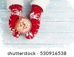 female hands holding hot... | Shutterstock . vector #530916538