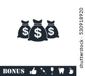 money bags icon flat. vector... | Shutterstock .eps vector #530918920