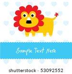 little baby lion | Shutterstock .eps vector #53092552