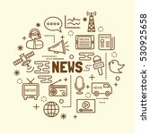 news minimal thin line icons... | Shutterstock .eps vector #530925658