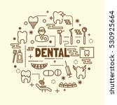dental minimal thin line icons... | Shutterstock .eps vector #530925664