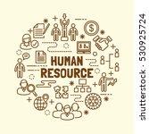 human resource minimal thin...   Shutterstock .eps vector #530925724