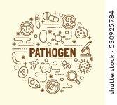 pathogen minimal thin line... | Shutterstock .eps vector #530925784