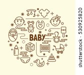 baby minimal thin line icons... | Shutterstock .eps vector #530925820