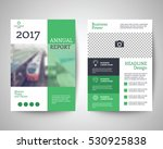 green abstract flyer layout... | Shutterstock .eps vector #530925838