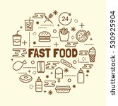 fast food minimal thin line... | Shutterstock .eps vector #530925904