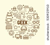 geek minimal thin line icons... | Shutterstock .eps vector #530925910