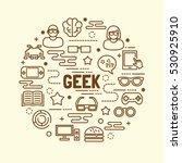 geek minimal thin line icons... | Shutterstock .eps vector #530925910