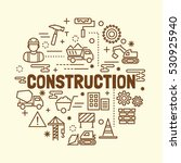 construction minimal thin line... | Shutterstock .eps vector #530925940