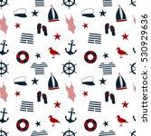 marine seamless background.... | Shutterstock .eps vector #530929636