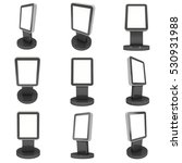 lcd screen stand. blank trade... | Shutterstock . vector #530931988