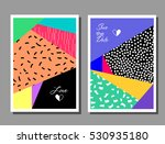set of colorful cards. modern... | Shutterstock .eps vector #530935180