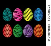 easter eggs set  collection... | Shutterstock . vector #530938126