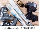 overhead view of ski... | Shutterstock . vector #530938438