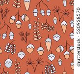 seamless pattern with acorns ... | Shutterstock .eps vector #530938570